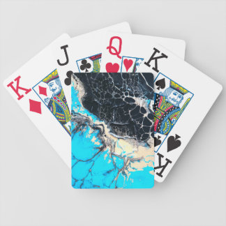 Cyan and black fluid acrylic paint Art work Bicycle Playing Cards