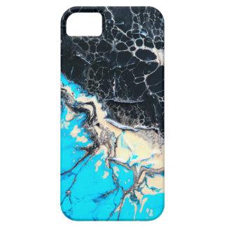 Cyan and black fluid acrylic paint Art work iPhone 5 Cover