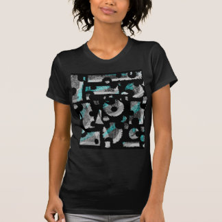 Cyan and gray abstraction T-Shirt