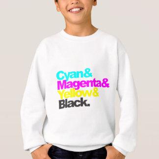 Cyan and Magenta and Yellow and Black Sweatshirt