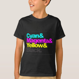 Cyan and Magenta and Yellow and Black T-Shirt