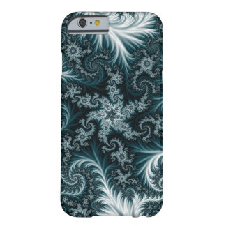 Cyan and white fractal pattern. barely there iPhone 6 case