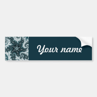 Cyan and white fractal pattern. bumper sticker