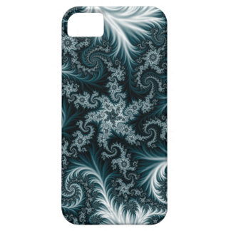 Cyan and white fractal pattern. iPhone 5 cases