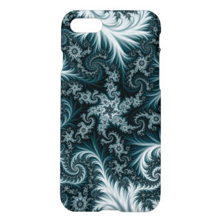Cyan and white fractal pattern. iPhone 8/7 case