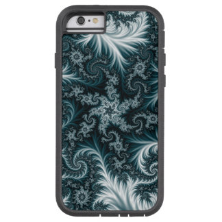 Cyan and white fractal pattern. tough xtreme iPhone 6 case