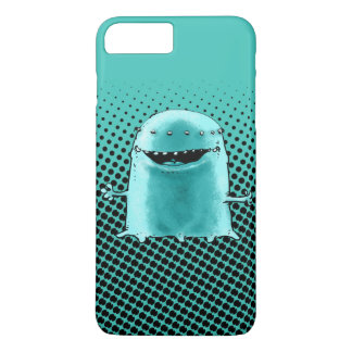 cyan blue alien funny cartoon iPhone 7 plus case
