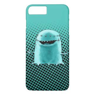 cyan blue alien funny cartoon iPhone 8 plus/7 plus case