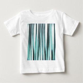 Cyan Blue Ocean Stripey Lines Pattern Baby T-Shirt