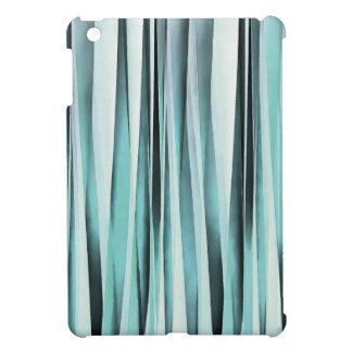 Cyan Blue Ocean Stripey Lines Pattern Case For The iPad Mini