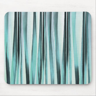 Cyan Blue Ocean Stripey Lines Pattern Mouse Pad