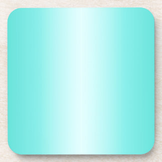 Cyan - Celeste and Turquoise Gradient Coaster