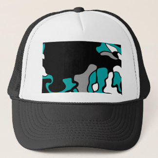 Cyan creativity trucker hat