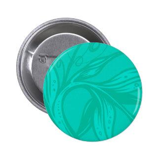 Cyan Floral Button