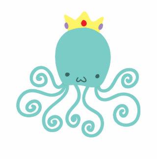Cyan Octopus Princess Standing Photo Sculpture
