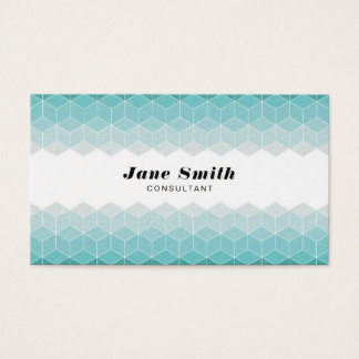 Cyan Polygons Business Card