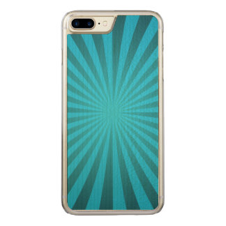 Cyan ray design carved iPhone 8 plus/7 plus case