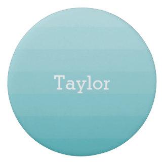 Cyan Shades of Blue Horizontal Stripes Youthful Eraser