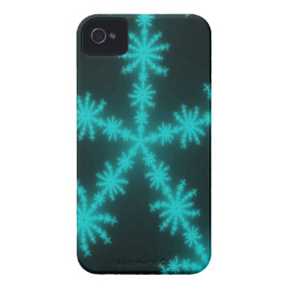 Cyan Snowflake Fractal Blackberry Case