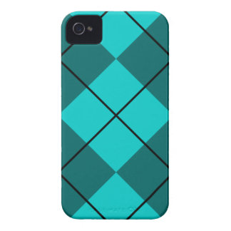 Cyan Teal Blue Argyle Case-Mate iPhone 4 Case