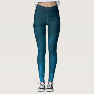 Cyan Texture1 - Leggings