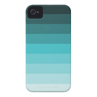 Cyan turquoise linear gradient iPhone 4/4S Case-Ma iPhone 4 Cover