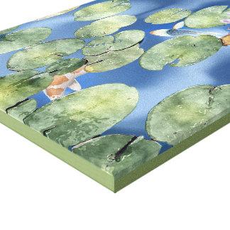 Cyanicity Koi Pond Canvas Artwork (original)