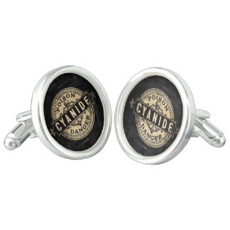 Cyanide Vintage Style Poison Label Cuff Links