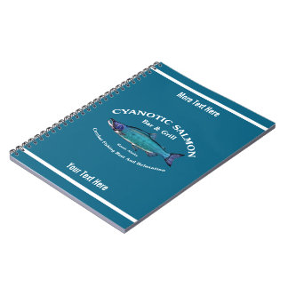 Cyanotic Salmon Bar & Grill Spiral Note Book