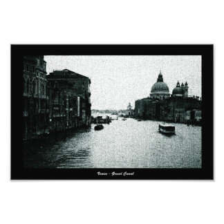 Cyanotype Grand Canal, Venice Photograph