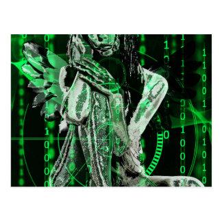 Cyber angel postcard