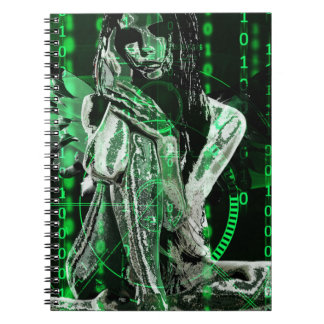Cyber angel spiral note book