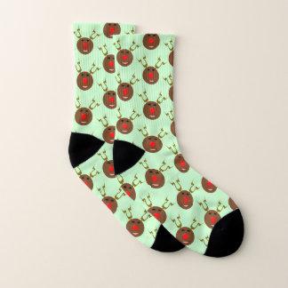 Cyber Christmas Reindeer Patterned Socks 1