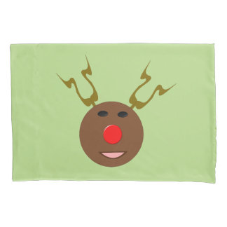 Cyber Christmas Reindeer Pillowcase