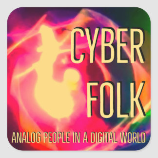 Cyber Folk Square Sticker