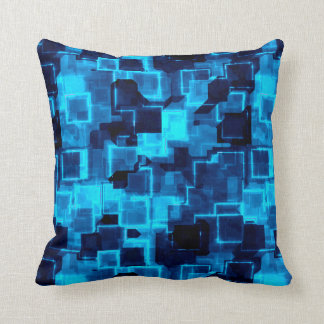 Cyber Glow Throw Pillow