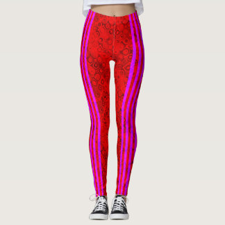 Cyber Goth Swirls Raver Leggings