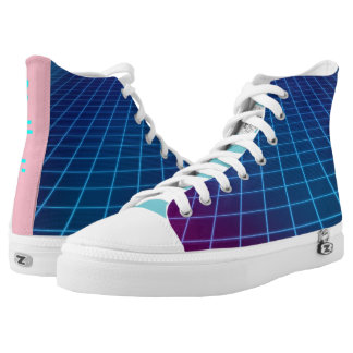 Cyber grid aesthetic Kicks High Tops