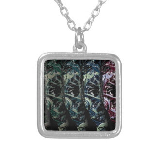 Cyber kid silver plated necklace