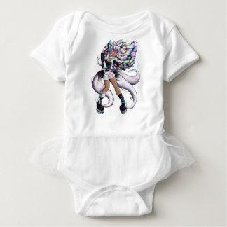 Cyber Kitsune Girl Baby Bodysuit