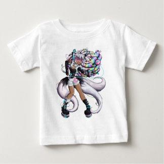 Cyber Kitsune Girl Baby T-Shirt