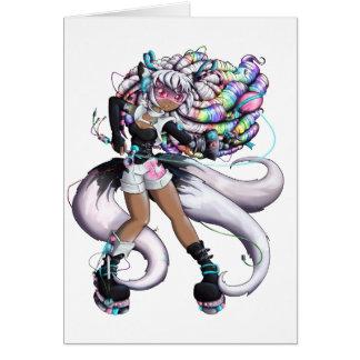 Cyber Kitsune Girl Card