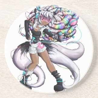 Cyber Kitsune Girl Coaster