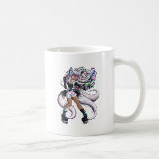 Cyber Kitsune Girl Coffee Mug