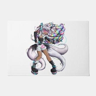 Cyber Kitsune Girl Doormat
