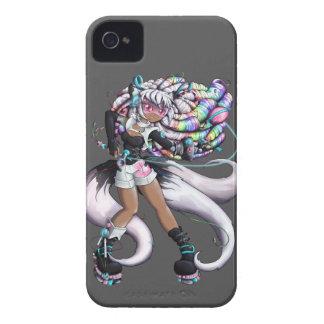 Cyber Kitsune Girl iPhone 4 Case