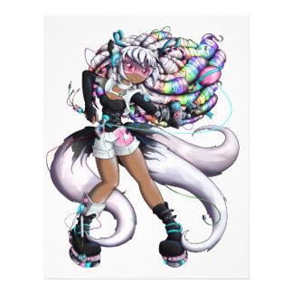 Cyber Kitsune Girl Letterhead