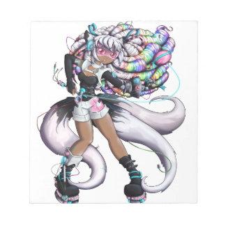 Cyber Kitsune Girl Notepad