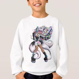 Cyber Kitsune Girl Sweatshirt