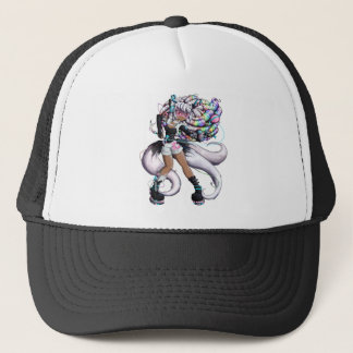 Cyber Kitsune Girl Trucker Hat